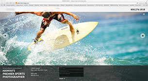 Surf photographer website by Main Media