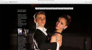 Glamorous couple dancing website by Main Media